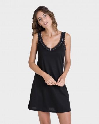Camisola de mujer corta de tirantes