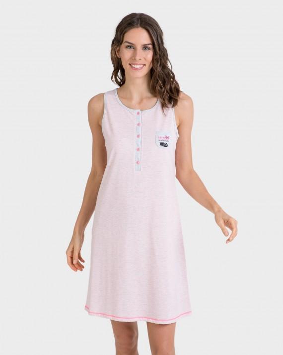 Camisola de dona rosa amb botons