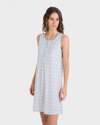 Camisola de mujer rayas sin mangas