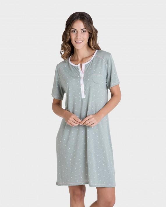 Camisola de dona màniga curta amb botons