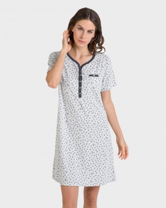 Camisoa de mujer manga corta y bolsillo