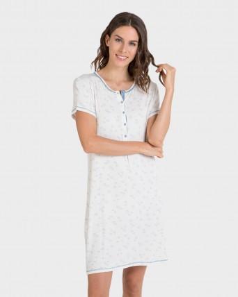 Camisola de mujer de bambú manga corta