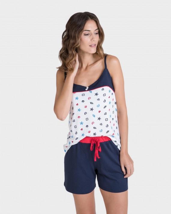 Pijama de mujer estampado marinero