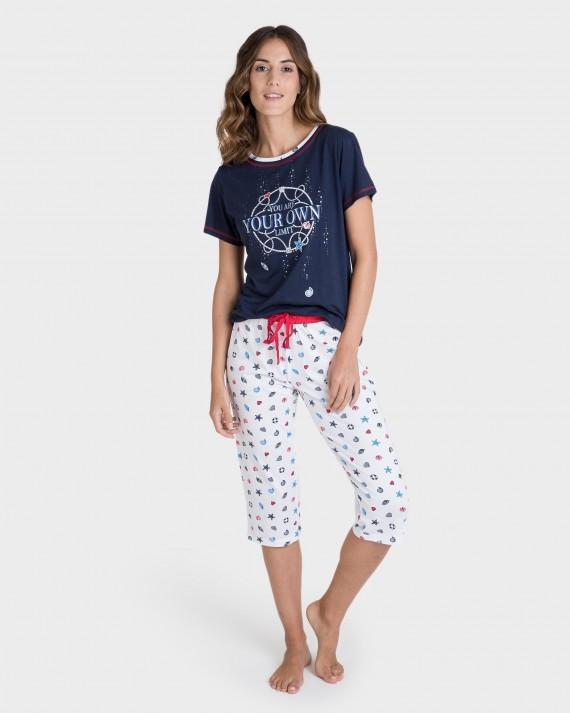 Pijama de dona pirata color marí