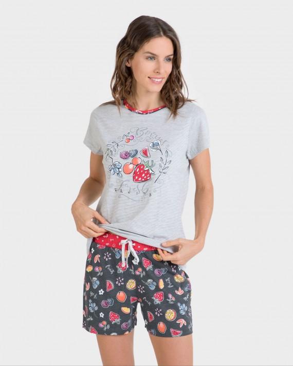 Pijama de mujer manga corta