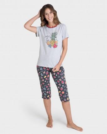 Pijama de mujer pirata estampado