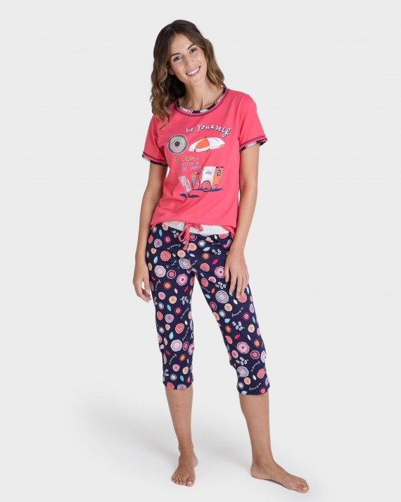 Pijama de dona 100% cotó pirata