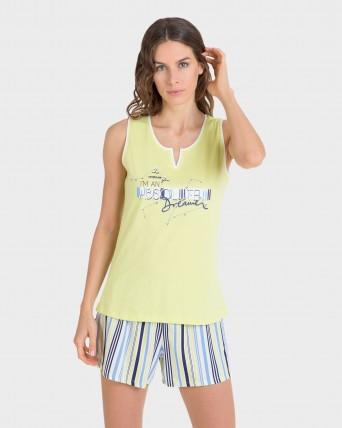 Pijama de mujer pantalón rayas
