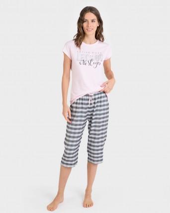 Pijama de mujer pirata y manga corta