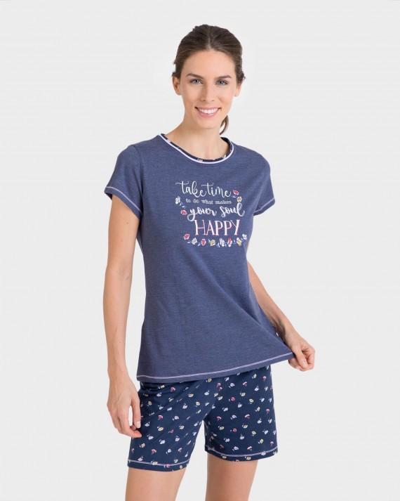Pijama de dona màniga curta