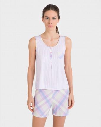 Pijama de mujer sin mangas