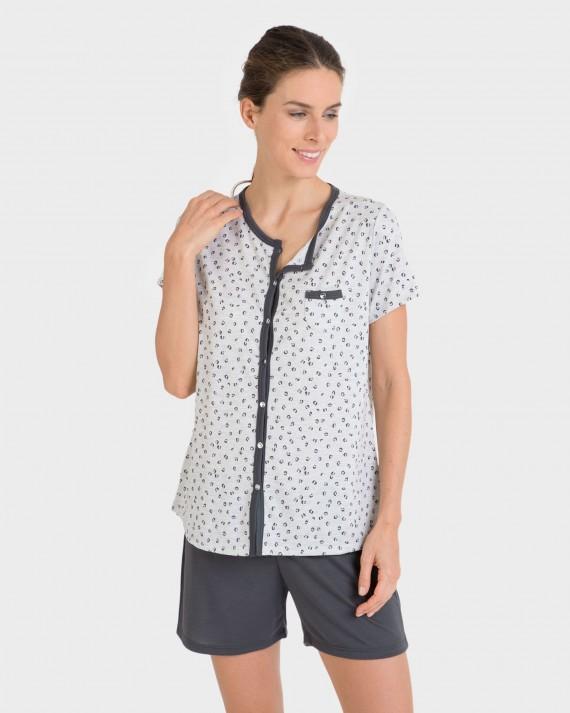 Pijama de mujer con botones