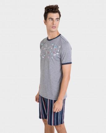 Pijama de hombre pantalón rayas