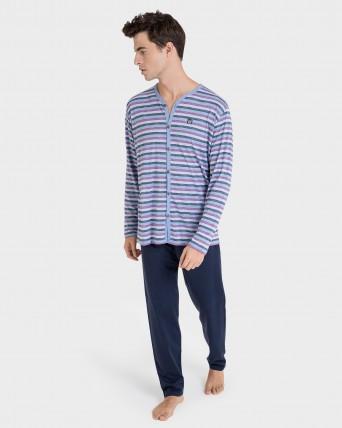 Pijama de hombre pantalon y manga larga
