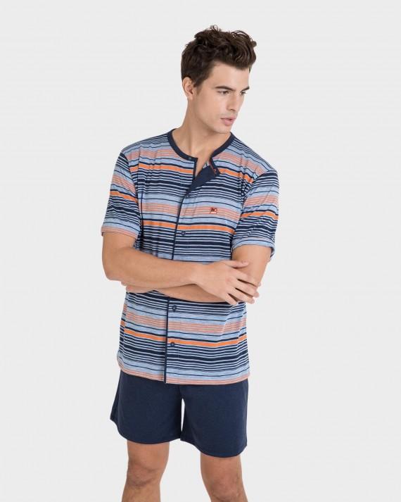 Pijama de hombre abierto con botones