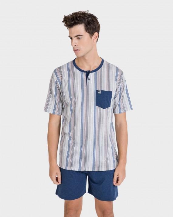 Pijama de hombre con bolsillo