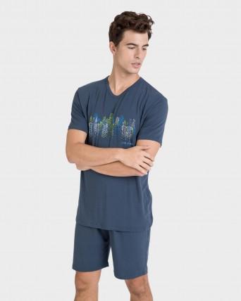 Pijama de hombre de viscosa de bambú