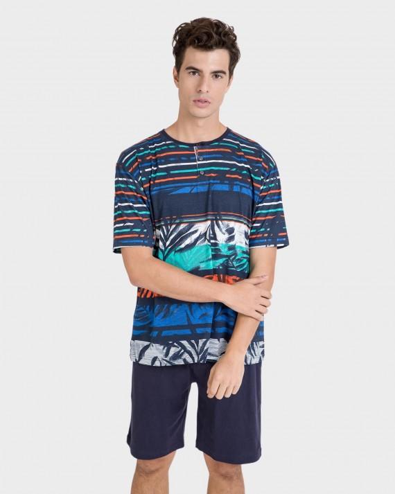 Pijama de hombre 100% algodón