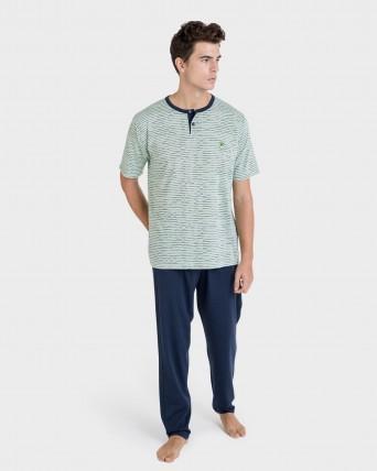 Pijama de hombre pantalón largo