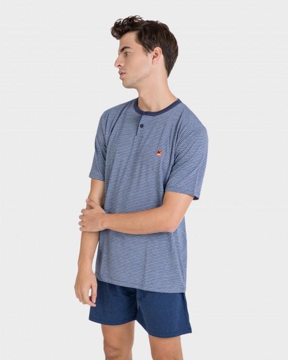 Pijama de hombre azules
