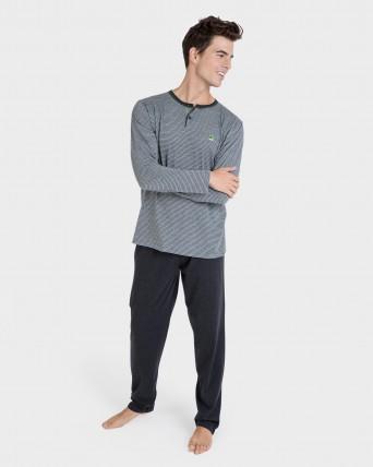Pijama d'home màniga llarga
