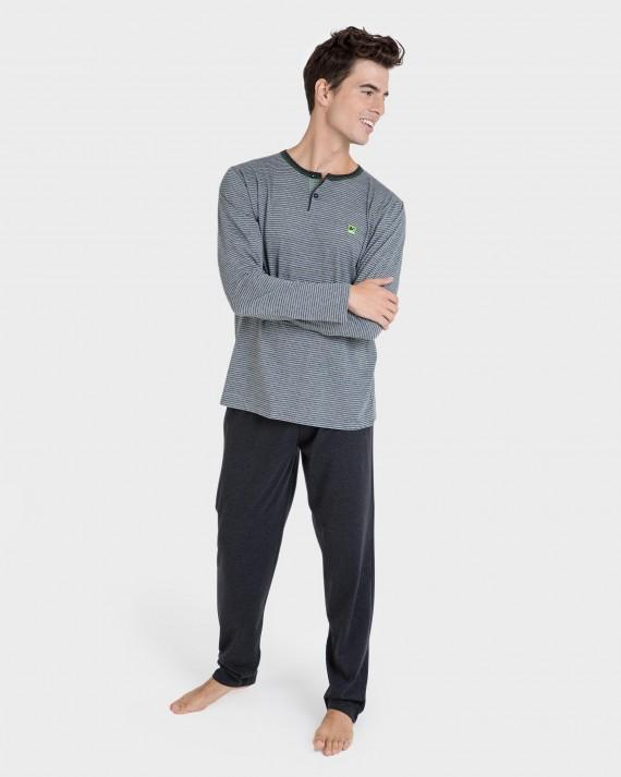 Pijama de hombre manga larga
