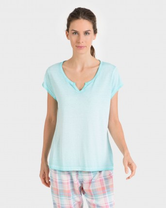 Camiseta de mujer mix and match manga corta 100% algodón