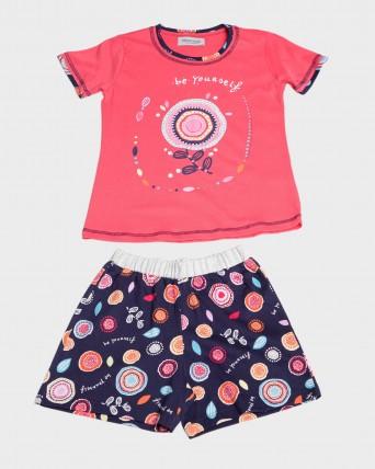 Pijama nena 100% cotó màniga curta