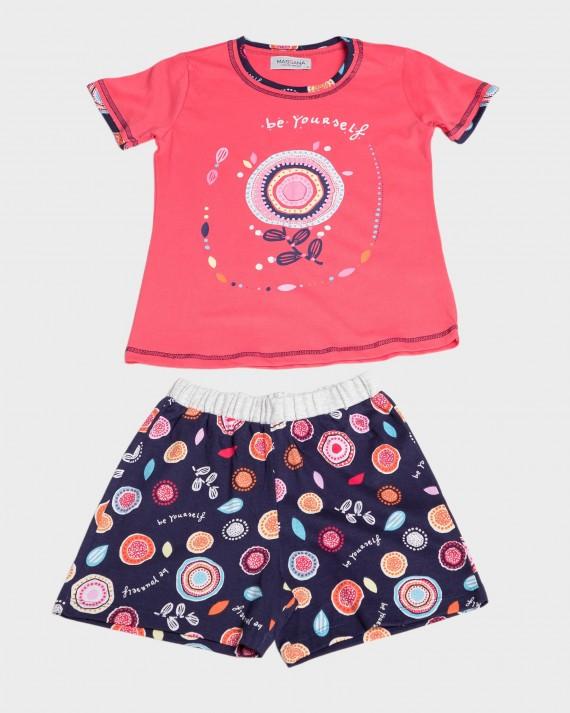 Pijama niña 100% algodón manga corta