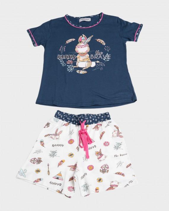 Pijama niña 100% algodón conejo