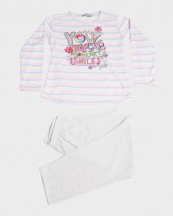 Pijama niña manga larga y pantalón largo