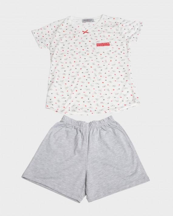 Pijama nena màniga curta i butxaca
