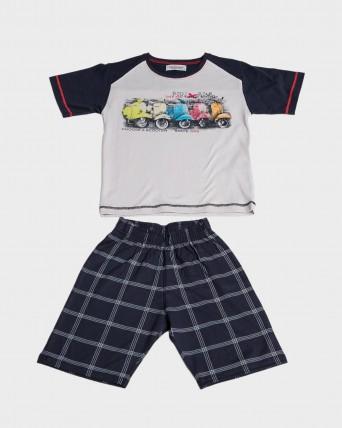 Pijama niño 100% algodón motos