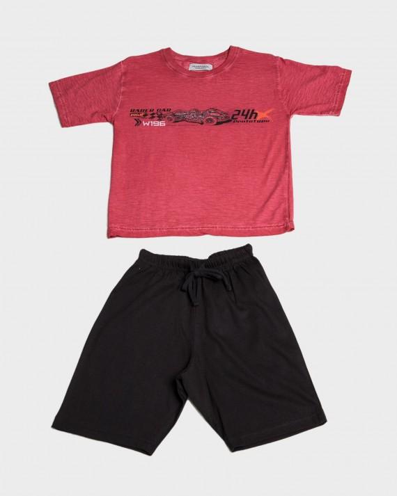 Pijama niño 100% algodón cuello redondo