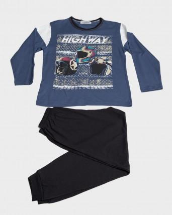 Pijama niño 100% algodón largo