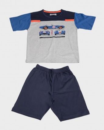 Pijama niño 100% algodón coche