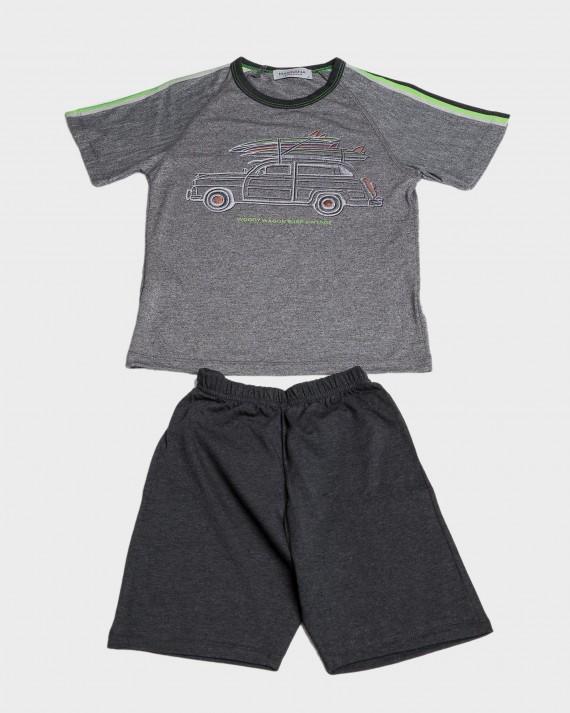 Pijama niño manga corta y cuello redondo