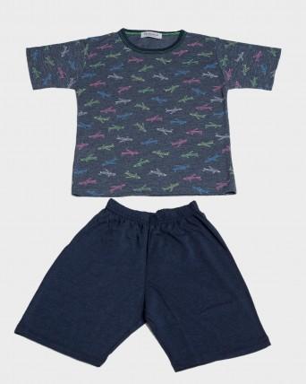 Pijama nen màniga curta avions
