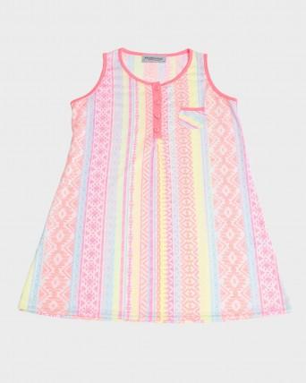 Camisola niña sin mangas fluorescente