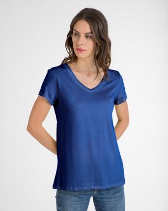 Samarreta de dona de màniga curta amb cotó