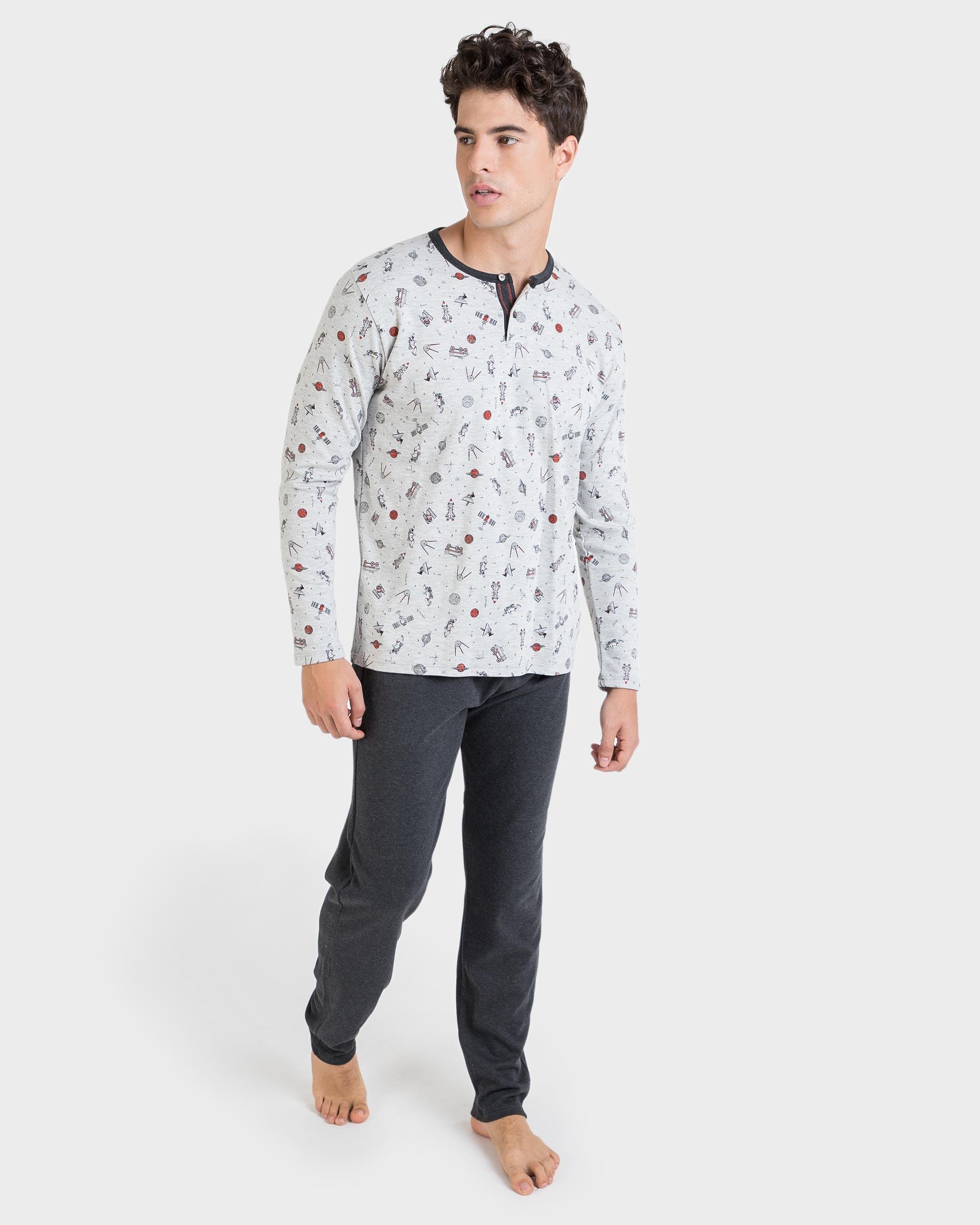 Massana Pijama de Hombre Estampado m//c P201310
