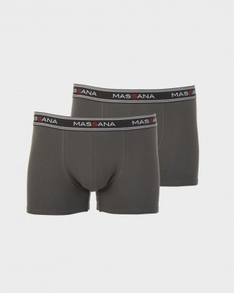 PACK 2 BOXERS HOME GRIS