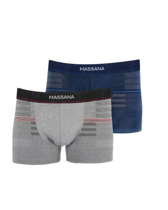 PACK 2 BOXERS HOME BLAU I GRIS