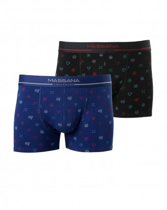 PACK 2 BOXERS HOME ESTAMPATS